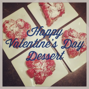Happy Valentine's Day! This is our yummy dessert I made to celebrate.